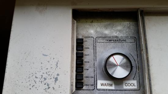 Appomattox, Wirginia: Dirty AC/heat control dial