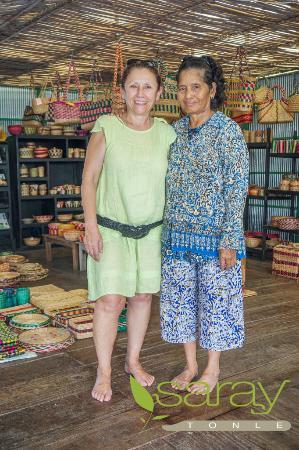 Saray Tonle Community Based Ecotourism: Water hyacinth hadicraft10
