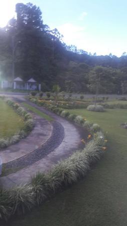 The Riverside Inn Boquete: Esta es la vista de la ventana frente a la cama