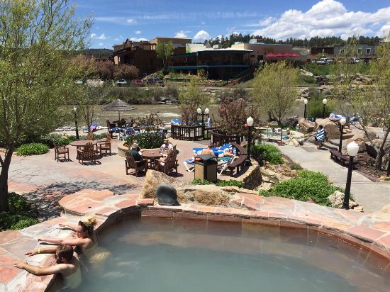 Pagosa Springs, CO: Pools and river.