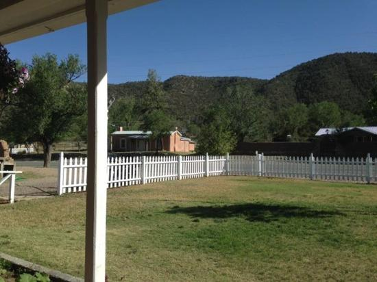 Lincoln, Nuevo Mexico: View from the porch