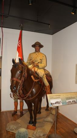 Fort Huachuca, AZ: Buffalo Soldier on Horse