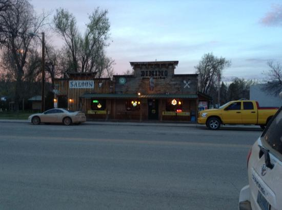 Hulett, WY: Early evening at the Ponderos Cafe
