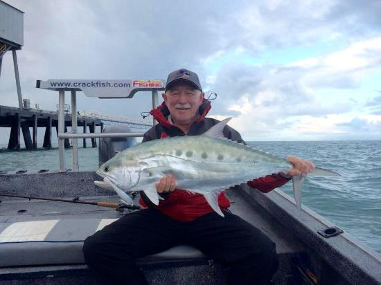 Lucinda, Australië: My first Queenfish.