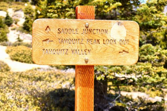 Idyllwild, Калифорния: Sign a little before the peak