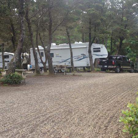 Depoe Bay, OR: Forest RV site