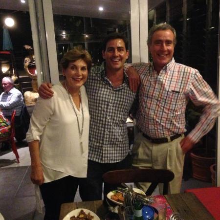 Eumundi, Australia: New restaurateur Edward Nolan with parents, family and friends