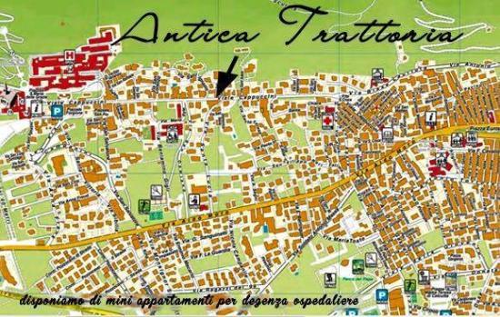 Cartina Geografica San Giovanni Rotondo.Mappa Foto Di Antica Trattoria San Giovanni Rotondo Tripadvisor