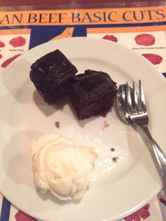 Jake's Charbroil Steaks: Desserts- Brownies and vanilla ice cream