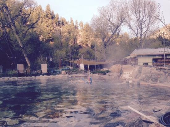 Buena Vista, CO: One of the pools, crystal clear