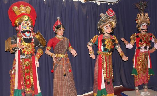 Ramnagaram, India: Yakshagana Troupe replicas