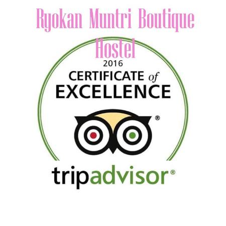 Ryokan Muntri Boutique Hostel: #Tripadvisor Certificate of Excellence 2016  5 years in a row