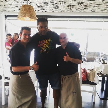 Restaurante Cheche: Cedric Sorhaindo!!! Balonmano Barça!!!