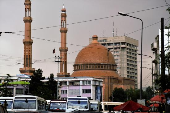 Kabul, Afghanistan: While driving past the mosque