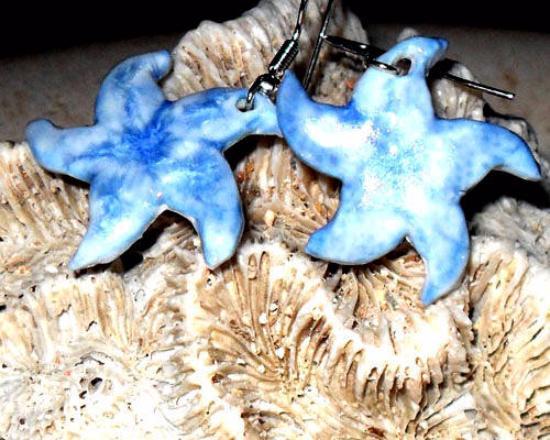 Roch, UK: orecchini starfish celesti