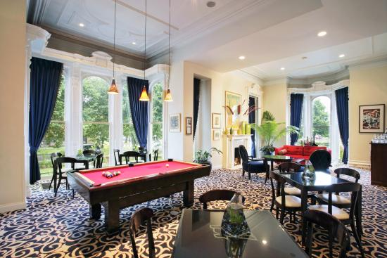 The Billiards Salon At The Mansion On Hotel Henry