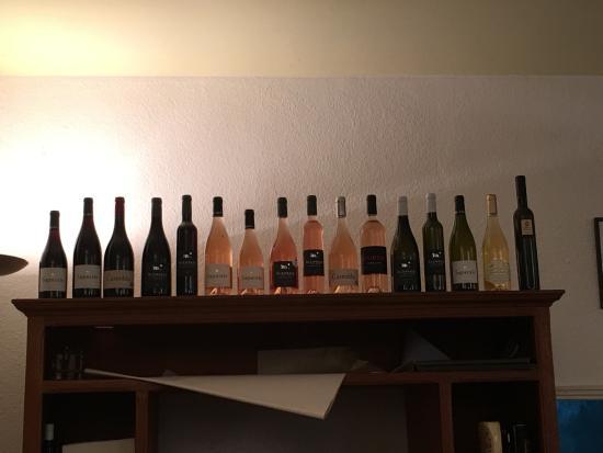 Evisa, Prancis: La carte des vins