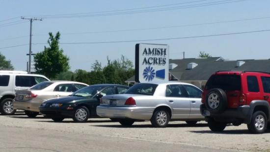 Nappanee, IN: Sign at Amish Acres