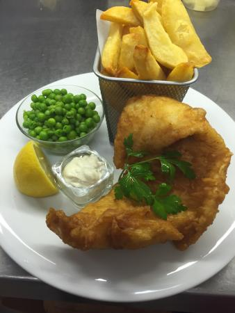 Blean, UK: Fish and chips at its best.