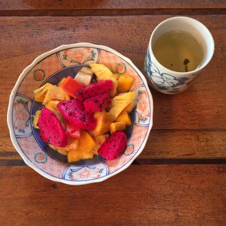 Freshest fruits as breakfast