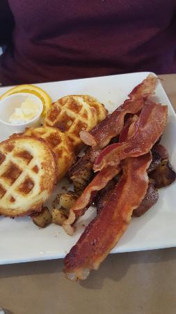 Waffles With Side Lamb Bacon Picture Of The Sinful Kitchen Portland Tripadvisor