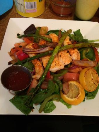 Delicias Valley Cafe: Fish salad so yummy, whole menu must try have!