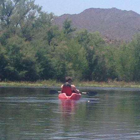 Saguaro Lake Guest Ranch: Kayaking on Salt River