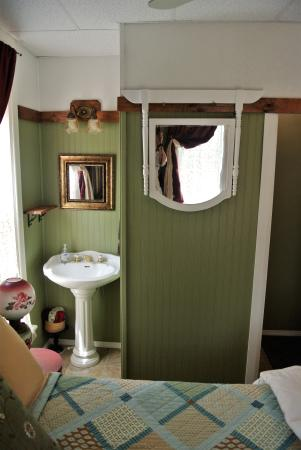 Montague, MI: A comfortable Victorian themed room.
