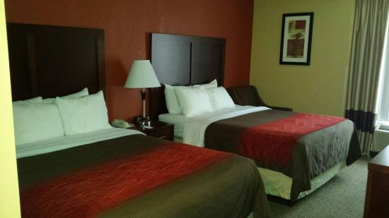 Comfort Inn: comfortable king beds.