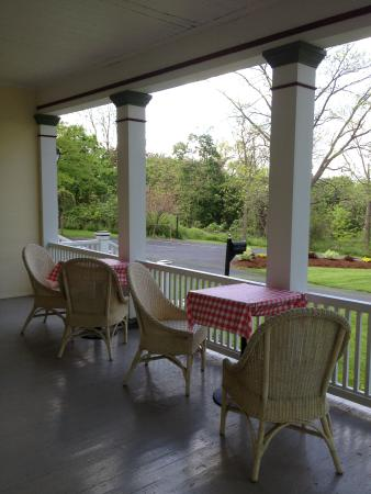 Finger Lakes Bed & Breakfast : Relax on our wraparound porch and watch the world go by