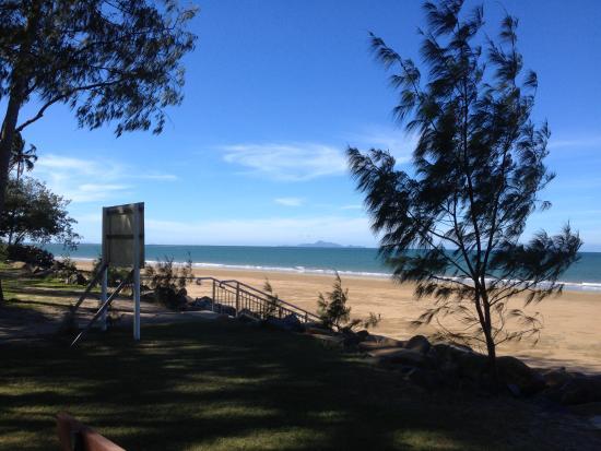 Mackay, Austrália: Afstand campingplaats tot aan zee