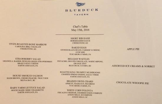 Blue Duck Tavern: The brunch menu - perfectly executed