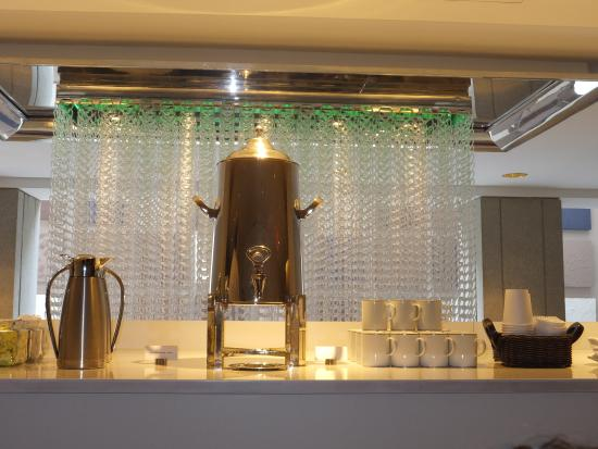 Blue Duck Tavern: Coffee setup in the mezzanine