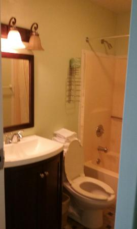 Knights Inn Center Valley: 2  beds with fresh paint and new bathroom and flat tv
