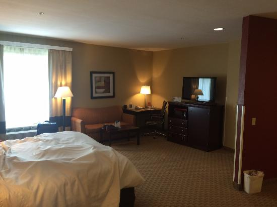 Comfort Suites: Room 221, Bed, Sofa, Desk, TV