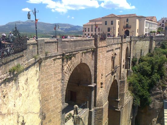 Plaza de Toros: Famous bridge in Ronda (300m away)