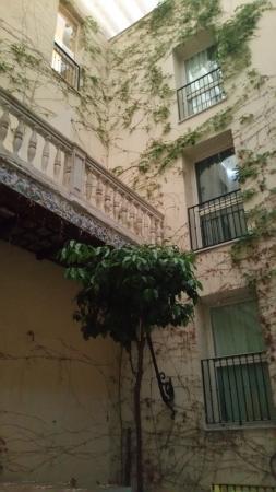 Petit Palace Santa Cruz : chambre donnant sur le patio