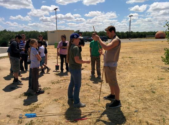 Fossil Discovery Center: Practicing the atlatl