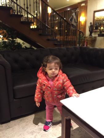Hotel Liabeny: Minha BB no Lobby do hotel