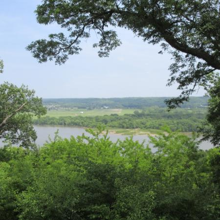 Peoria, IL: WMBD - View of the Eastern Bank of Illinois River, May 2016