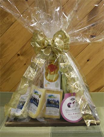 Woodstock, Kanada: Many different types of gift baskets.