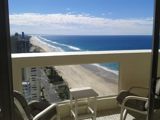 Focus Apartments: Lounge balcony view, sunny as