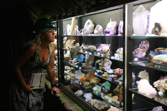 The Crystal Caves: The Glasshouse Collection displays more than 100 different specimens