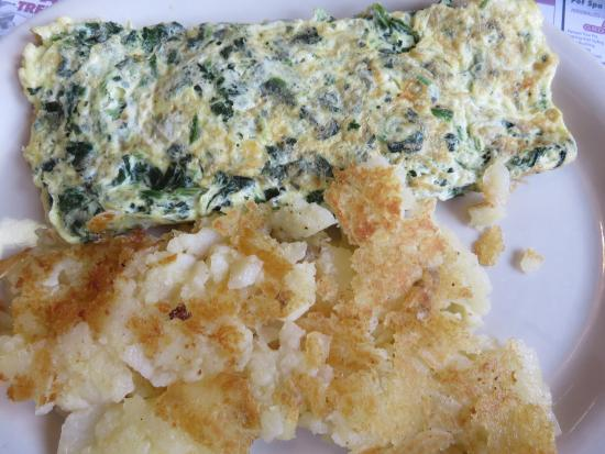 Clarks Summit, PA: Fabulous spinach feta omelet
