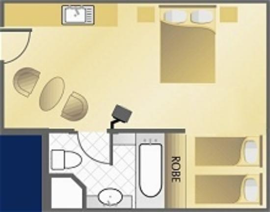 Tropical Queenslander Cairns Holiday Studio & Apartment: Family Room Plan
