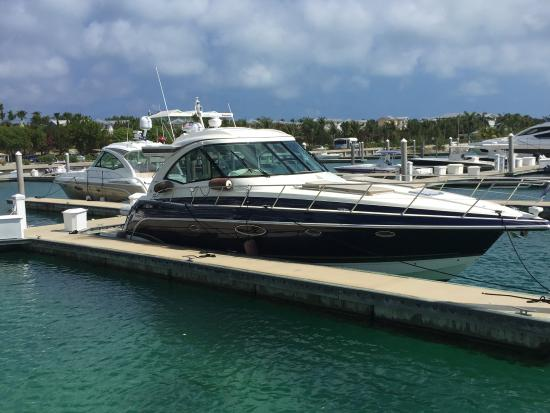 Bimini: Our boat in the marina
