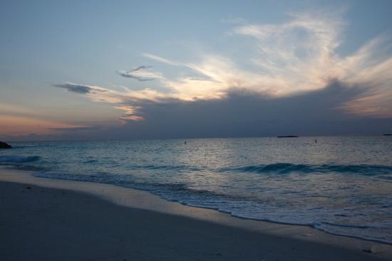 Bimini: The beach at sunset