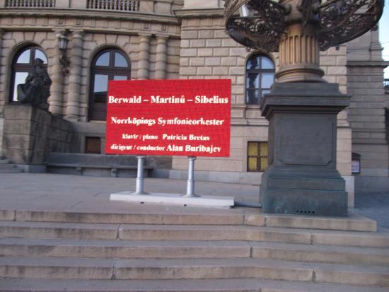 """My """"affiche"""" in front of Rudolfinum"""
