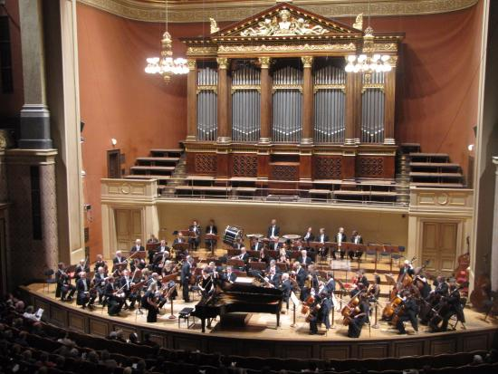 Playing as soloist at Rudolfinum.
