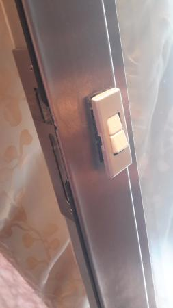 Bon Portside Cruises Pacific Dawn Day Tours: Light Switch On Metal Door Frame  Popped Out With